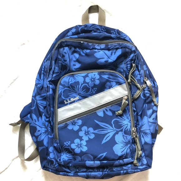 L.L. Bean Other - L.L. Bean navy floral backpack